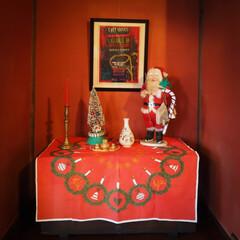 レトロ/サンタクロース/クリスマス/クリスマスツリー 今年もあと1ヶ月あまり サンタさんも忙し…