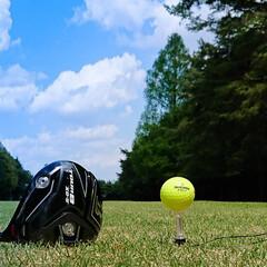 ゴルフ/星の宮CC/ドライバー ドライバーでかっ飛ばしました ボールの行…