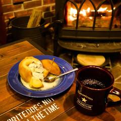 薪ストーブ/宇都宮/薪ストーブのある暮らし/焼きリンゴ/コーヒーのある暮らし 今日もお楽しみの薪ストーブクッキング🎵 …(3枚目)