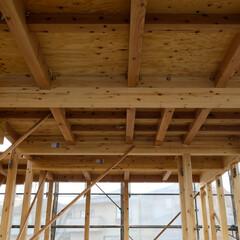 宇都宮/晴天/上棟/ひのきの家/木の家づくり 本日、上棟工事を行いました。 桧の香りが…(2枚目)