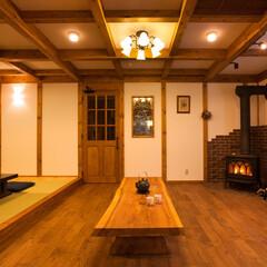 木の家/サイエンスホーム/薪ストーブ 真壁造りの家