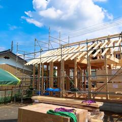 真壁造り/阿部興業株式会社/木造住宅/ヒノキ/木の家づくり/木の家/... 桧の香りが漂う建築現場 上棟工事を行いま…
