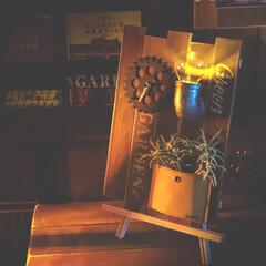 サイエンスホーム/阿部興業株式会社/木の家づくり/木の家/LEDライト/ドリッパースタンド/... 100均グッズで時計を作りました。 オリ…(2枚目)