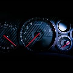 GT-R/スピードメーター/カーボン柄/スピード GT-Rのスピードメーター カーボン柄が…