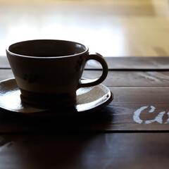 木の家/コーヒーのある暮らし/コーヒー/益子町/肉球/肉球シリーズ/... コーヒーでホッと一息☕️😃 益子焼のカッ…