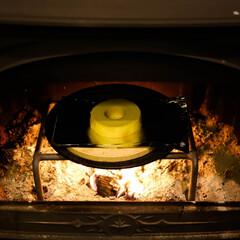 宇都宮/薪ストーブのある家/薪ストーブ/焼きバームクーヘン/バームクーヘン 焼きバームクーヘン 表面が、こんがりサク…