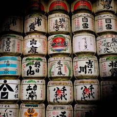 明治神宮/酒樽/菰樽 明治神宮の奉納された酒樽 他の神社に比べ…