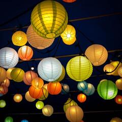 ノスタルジック/和傘/提灯/光りのイベント/那珂川町/栃木県 光りのイベントの続きです。 辺りは暗くな…(1枚目)