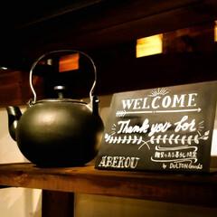ダルトン/雑貨/Welcomeボード/薪ストーブ/木の家/宇都宮 オシャレな看板を作ってもらいました♥️ …