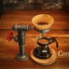 阿部興業株式会社/木の家好き/木の家/インダストリアル/コーヒー好き/DIY/... 鉄管で、ドリッパースタンドを作りました🎵…