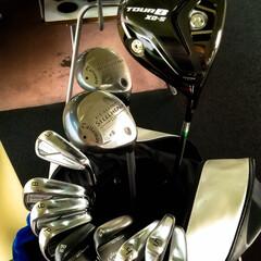 ゴルフクラブ/筋肉痛/運動不足/筑波ジャンボゴルフ/練習場/ゴルフ 久々の練習 全然当たりません~ でも良い…
