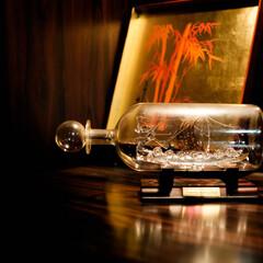 ボトルシップ/ガラス ボトルシップ ビンの中に船を作るなんて・…