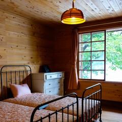 寝室/スギ材/最高の目覚め/そよ風/木の家/中禅寺湖/... 木の香り 窓から入る清々しい風 最高の目…