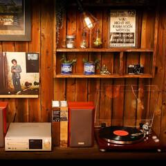 レコード/コーヒー/木の家 「木の温もり」と「レコード」と「コーヒー…