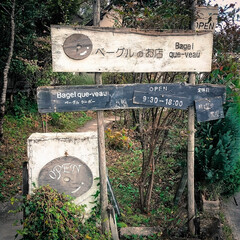 コーヒー/木の家/古民家風/ベーグルクーボー/那須町/栃木県/... モチモチベーグルです。    シンプルな…(7枚目)