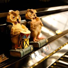 フクロウ/ミミズク/ダイソー/ピアノ これってミミズク?フクロウ? さあどっち…