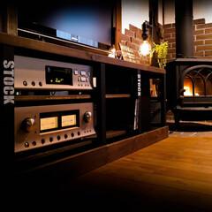 薪ストーブ/オーディオ/LUXMAN/木の家 20年愛用のオーディオ LUXMAN ア…