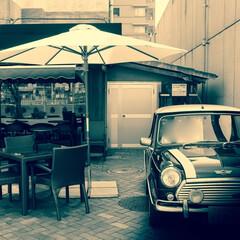 カフェ/ミニクーパー/門司港レトロ/門司港 以前訪れた門司港のカフェ オシャレなミニ…