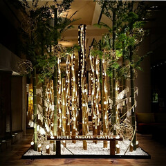 名古屋/竹鶴/ウィスキー 名古屋のホテルにあった竹のオブジェ&竹鶴…