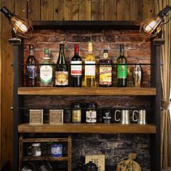 木の家/ホームバー/ホームカフェ/DIY/エジソンバルブ ホームバー&カフェ DIY エジソンバル…