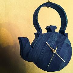 DIY/木の家/時計 手作り時計 お客様のお住まいに飾ってあり…