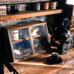 阿部興業株式会社/宇都宮市/栃木県/木の家/アンティーク風/100均一DIY/... コーヒーグッズを収納するケースを作りまし…