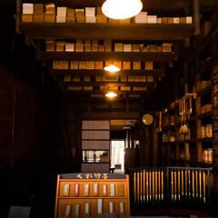 木造住宅/レトロ/千と千尋の神隠し/武居三省堂/江戸東京たてもの園 なつかしい雰囲気のお店 江戸東京たてもの…