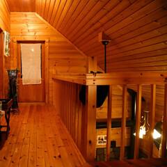 木の家/ログハウス/薪ストーブ やわらかな光がホッとする木の家