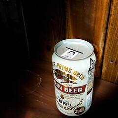 ビール/一番搾り/貯金箱 実はビール工場見学でもらった貯金箱 お金…