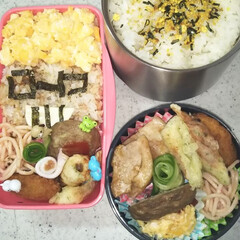 お弁当/メンディー おはよーございます☁️☀️ 今日の男子&…(1枚目)
