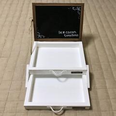 マグネットボード/小物入れ/什器/ナチュラルテイスト/DIY/セリア/... セリアのマグネットボードと角材でスライド…
