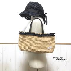ナチュラル/手作り雑貨/かぎ針編み/編み物作品/麻紐bag/夏バッグ/... 麻紐bag編みました♪ リボンにギャザー…