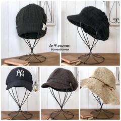 手作り雑貨/キャップスタンド/帽子スタンド/ワイヤーアート/ワイヤークラフト/DIY/... ワイヤーで帽子スタンド作りました♪