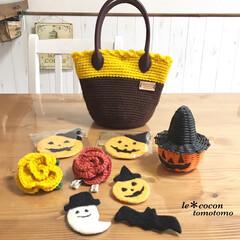 カボチャモチーフ/ハロウィン/小物/雑貨/毛糸のbag/コースター/... ハロウィングッズ色々♪