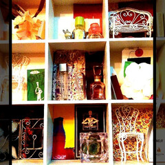 ドライフラワー/香水瓶/コレクションボックス/ミニチュア/フォロー大歓迎/ハンドメイド/... ミニチュア集め…♥  お花のコサージュは…