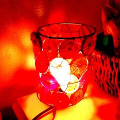 ライトアップ/間接照明/フォロー大歓迎/雑貨/インテリア/住まい/... こちらは硝子の照明です…✨  1つ1つ手…