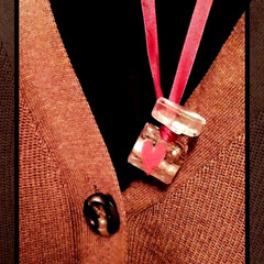 コーデ/ネックレス/香水瓶風/インテリア/ハンドメイド/ファッション/... 香水瓶風ネックレスを付けてみました♥♪ …