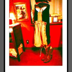 ハット/ヴィヴィアンウエストウッド/つけ襟/ブーツ/コーデ/ワンピース/... Re:makeしたワンピース♥  元々か…
