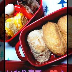 いなり寿司/お弁当おかず/おうちごはん/お弁当/ランチ/時短レシピ 今日のお弁当〜!  今日はいなり寿司弁当…