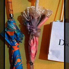 ヴィヴィアンウエストウッド/インテリア/フェイク/かさ/ピンク/収納/... 可愛い傘☂️?かと思ったら、  真ん中の…