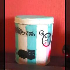 灰皿/アリス/リメ缶/フォロー大歓迎/ハンドメイド/DIY/... 灰皿をRe:make!  ペンキを塗って…