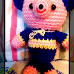 宝物/プレゼント/ブルー/くま/編みぐるみ/ピンク/... pinkとBlueの配色の🧸たん。  以…
