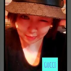 帽子/gucci/おしゃれ GUCCIのハット👒  前髪隠しには持っ…