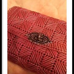 レトロ/昔ながら/手芸屋さん/キット/ポーチ/ピンク/... 手芸屋さんで キットを買って編みました!…