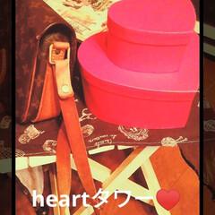 ウェディングアイテム/赤い色/ハート/インテリア/ダイソー/購入品/... DAISOで見つけた heart♥  早…(1枚目)