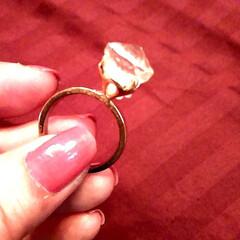 ハンドメイド/指輪/ring/春のフォト投稿キャンペーン/ありがとう平成/令和カウントダウン/... こんなに大きいダイヤがあったらな……✨と…