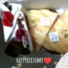 感謝/プレゼント/ケーキ/妹/誕生日 こんにちは(*´ω`*)☆  今日は妹ち…(1枚目)