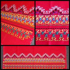 刺繍/スウェーデン刺繍/手芸/針仕事/ニードルワーク/幾何学模様/... 【スウェーデン刺繍】  大流行したのは随…