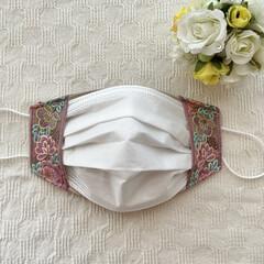 便利グッズ/インナーマスク/マスクカバー/リボン/刺繍/布小物/... my works :  インドの刺繍リボ…(4枚目)