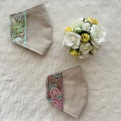 便利グッズ/インナーマスク/マスクカバー/リボン/刺繍/布小物/... my works :  インドの刺繍リボ…(3枚目)